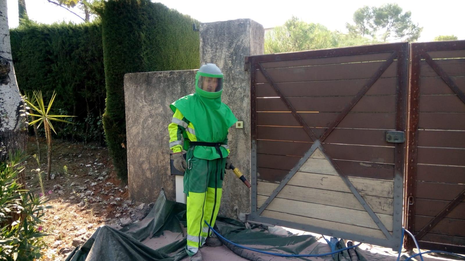 Nettoyage Façade Villa Mur De Pierre Décapage De Bâtiment 06